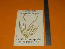 CHROMO 1959 CATHOLICISME IMAGE PIEUSE HOLY CARD 30e ANNIVERSAIRE JEC - JECF