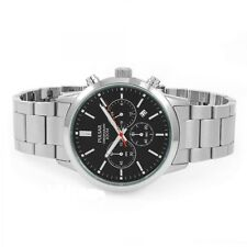Mens Brand New Pulsar Chronograph Black Dial 100m Watch PT3743X1 Rp £120