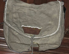Juicy Couture Varvatos Diesel Canvas Leather Messenger Bag