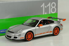 2007 Porsche 911 997 gt3 RS plata Silver 1:18 Welly