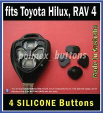 fits TOYOTA Hilux, RAV4, Yaris remote key - 4 Repair Buttons (1 set)