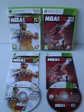 Set of 2 Games XBOX 360 NBA 2 K 10 et 12 Basketball Bryant / Jordan