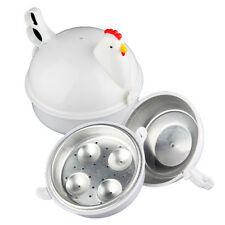 Microwave 4 Eggs Boiler Cooker Poacher Boiled Chicken Shaped Kitchen Cooker tool