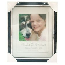 "Brand new Picture Frame Photo Frame 10 x 8"" - Black And Silver"