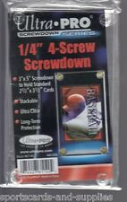 (5) Ultra Pro 4-Screw Screwdown Trading Card Holder Regular Recessed