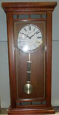 SEIKO MUSICAL WALL CLOCK  QXM489BLH WOODEN CASE - PLAYS 18 HI-FI MELODIES