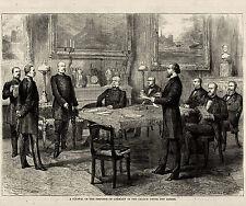 PRUSSIA WILLIAM WILHELM 1 & OTTO VON BISMARCK COUNCIL MEETING, German Catholics