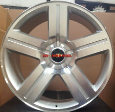 26 inch Wheels Texas Edition Style Rims Chevy Silverado Tahoe Silver Machined 24