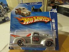 Hot Wheels '40 Ford Pickup HW Hot Rods Silver! Short Card