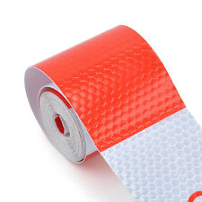 "2""X10' 3M Red White Reflective Safety Warning Conspicuity Tape Film Sticker"