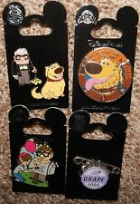 Disney Pixar Up Carl Fredrickson Ellie Dug Dog Grape Badge 5 Pin Lot