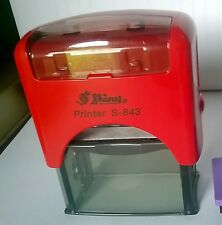 Shiny Printer S-843 Self-Inking Rubber Stamp  - Custom 4 line text or address