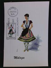 SPANIEN MK 1969 TRACHTEN MALAGA COSTUMES MAXIMUMKARTE MAXIMUM CARD MC CM c5561