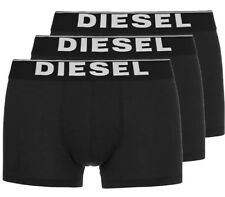 NWT Diesel KORY. Sz M. Men 3 Pack. Boxer,Cotton. Black Solid, MSRP $39.00