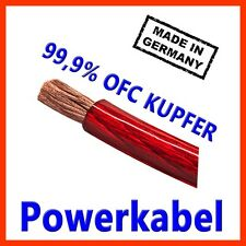 20mm2 Stromkabel - Powerkabel made in Germany  CarHifi OFC Kupfer 20mm 20mm² ROT