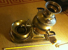 Russian Brass Teapot with stand and bowls Collectable Large 1 foot tall Riveted