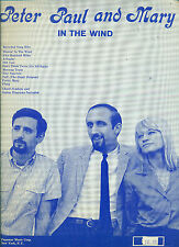 "PETER,PAUL & MARY ""IIN THE WIND"" PIANO/VOCAL/GUITAR CHORDS MUSIC BOOK RARE SALE!"