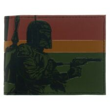Official Star Wars Boba Fett Bounty Hunter Mens Bi-Fold Wallet - Retro Gift New