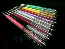 11 COLORS Crystal 2 in 1 STYLUS CHARM BALLPOINT PEN SWAROVSKI ELEMENTS+Pouch