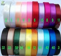 5/25 metres Satin RIBBON 13mm (20 color option U pick) single face craft DIY sew