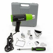 Kawasaki 840015 Black 10-Piece Heat Gun Kit by Kawasaki dual temperature range