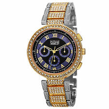 New Women's Burgi BUR123TTG Swiss Multifunction Crystal Bezel & Bracelet Watch
