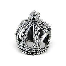 925 Sterling Silver Princess Queen Royal Crown Bracelet Charm Bead Gift Box B316