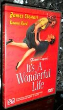 IT'S ITS A WONDERFUL LIFE *REMASTERED* James Stewart NEW & SEALED REGION 2 DVD
