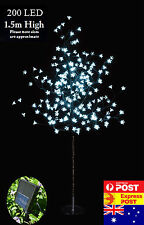 2x 200 LED 1.5M White Cherry Blossom Solar Christmas Outdoor Tree ( 2 Trees)