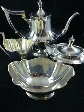 Antique Gorham Plymouth Sterling Silver Large Tea / Coffee Set Service N Mono