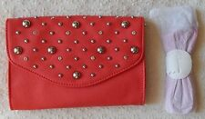 NEW Grace Adele BRITT Coral Clutch Purse Bag with 22 inch detachable strap