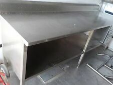 stainless steel worktop table with storage and drawers 96 x 30 x 36 tall