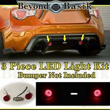 2013 2014 2015 2016 Scion FRS Subaru BRZ (3PC LED KIT) for REAR BUMPER Body Kit