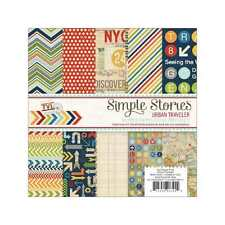 NEW SIMPLE STORIES URBAN TRAVELLER 6X6 PAPER PAD