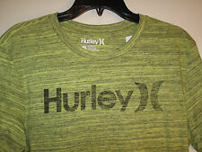 Hurley Mens Crew Neck Screenprinted Tshirt NWT M Lime Cotton/Poly