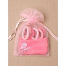 10 Pink Organza gift bag 60 Bobbles 20 Hair Clip 10Headband Party bag Wholesale