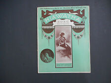 Vintage sheet music, Hiawatha, Neil Moret, James O'Dea ,1903, Minnehaha