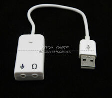 External USB 2.0 3D Virtual 7.1 Channel Audio Sound Card Adapter PC Laptop