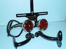 1932 Ford passenger car Taillight set, with Painted  mounts & plate bracket