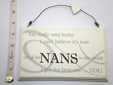 Lucky Nans Wall Plaque Sign Mothers Day Gift Ideas for her & Grandparents F0819C