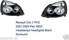 RENAULT CLIO 2001 - 2005 HEADLIGHT HEADLAMP RIGHT AND LEFT PAIR