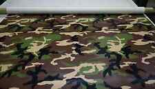 "3/4 YARDS WOODLAND CAMOUFLAGE VINYL FAUX LEATHER UPHOLSTERY FABRIC 54"" W CAMO"