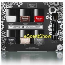 NIB BUTTER LONDON 8PC NAIL LACQUER VERNIS POLISH SET DOTTING TOOL STRIPING BRUSH