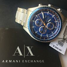 Armani Exchange AX1607 Men's Silver Stainless Steel Tachymeter Chronograph Watch