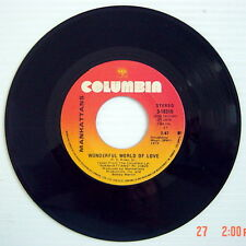 1976'S 45 R.P.M. RECORD, MANHATTANS, WONDERFUL WORLD OF LOVE + KISS AND SAY GOOD