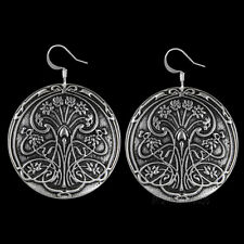 POND LILY Oberon Design EARRINGS Pewter art-nouveau made-in-usa ER29