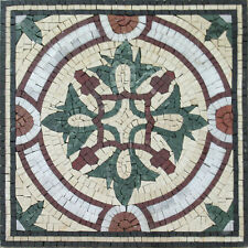 Rounded Arbor Design Inlay Art Mural Decor Marble Mosaic IN349