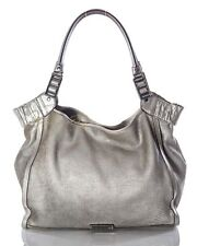 Burberry Large  Silver Leather Hobo Bag Handbag