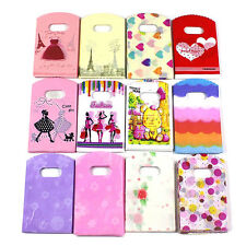 50pcs Wholesale Lot Pretty Mixed Pattern Plastic Gift Bag Shopping 15X9CM Lovely