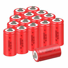 Hot 15PCS Red Color Rechargeable Battery SubC SC 1.2V 2200mAh Ni-Cd Battery Set